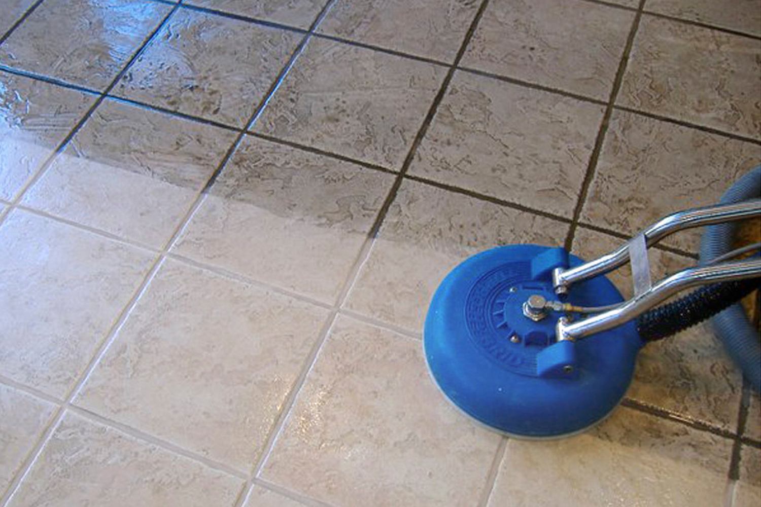 Hard surface cleaning oneway property restoration cleaning tile floors by hand is hard work dirty messy uncomfortable and impossible to get that desired deep clean result grout is a porous material and dailygadgetfo Image collections